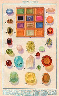 ZIEMLICH Europäischen Edelsteine Bergkristall von AntiqueWallPrints