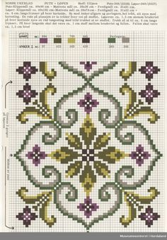 Crochet Border Stitch Trykt mønsterark i til brodert tekstil. Cross Stitch Pillow, Cross Stitch Borders, Crochet Borders, Cross Stitch Flowers, Cross Stitch Charts, Cross Stitch Designs, Cross Stitching, Cross Stitch Embroidery, Embroidery Patterns