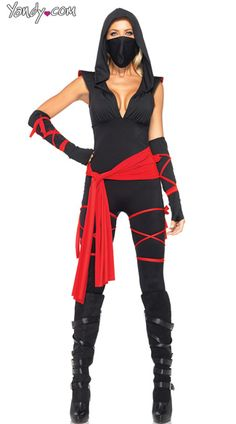 Deadly Ninja Costume, Womens Ninja Costume, Black Ninja Costume
