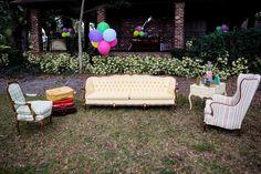 Vintage First Birthday, Porch Swing, Outdoor Furniture, Outdoor Decor, Event Design, First Birthdays, Facebook, Home Decor, One Year Birthday