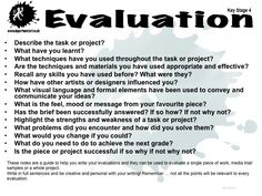 evaluation questions for use with artist statements? Middle School Art, Art School, School Stuff, High School, Art Rubric, Rubrics, Gcse Art Sketchbook, Sketchbooks, Art Analysis