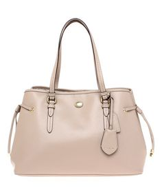 Look what I found on #zulily! Khaki Drawstring Peyton Leather Carryall #zulilyfinds