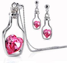 Fashion Girl Rhinestone Chain Crystal Waterdrop by JewelryLoveU