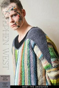 "Read all about Stephen West, a talented knitwear designer | highlights from his most recent pattern e-book ""Crazy for Color"", available for purchase on Ravelry 