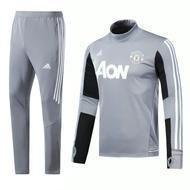 264d3f4fea Manchester United F.C. Football club Adidas Grey Men's Pre-Match Replica  TRAINING Suit Set Casual