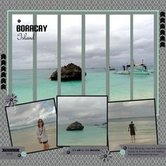 vacation scrapbook page ideas...love the look of this one