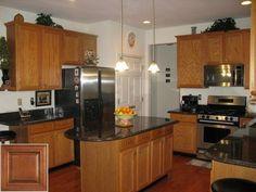 Samples Of Oak Cabinets With Bronze Hardware Oakkitchencabinets Kitchen