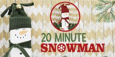 20 minutes is all you need to make this darling little inexpensive wooden snowman Christmas decor. Plus he won't melt! Great project for kids too! Burlap Christmas Tree, Christmas Crafts, Christmas Decorations, Christmas Christmas, Wine Bottle Crafts, Mason Jar Crafts, Wooden Snowmen, Primitive Snowmen, Primitive Crafts