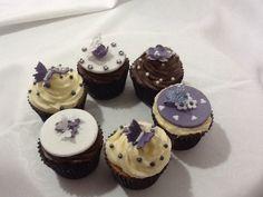 Purple themed cupcakes