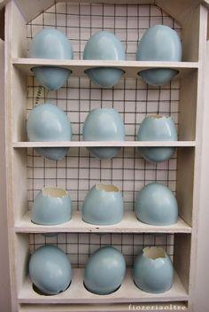 Fioreria Oltre/ Easter/ Pale turquoise eggshells  https://it.pinterest.com/fioreriaoltre/fioreria-oltre-easter/