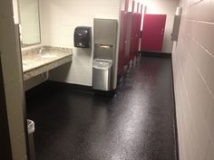 Epoxy flooring is a great option for commercial restrooms.