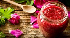 Rosé petal jam   Ingredients  500 gm rose petals  2 c sugar  4 c water  Juice of 2 lemons  Wash the petals thoroughly. Use petals that are not chemically sprayed. In a bowl and add sugar. Crush the rose petals with sugar. Cover and keep overnight in a cool spot. In a saucepan add rose petals, water, sugar and lemon juice. Simmer for 20 minutes on low heat stirring constantly until the sugar has dissolved. Bring to boil. Boil rapidly for 10 to 15 minutes until the mixture thickens.