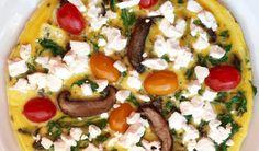 Portobello Mushroom and Feta Frittata | Essential Keto