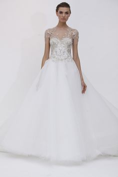 Marchesa Bridal Spring 2012.  Savoir Weddings | BrideClick
