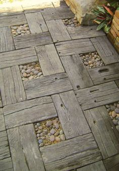Walk way made of pallets