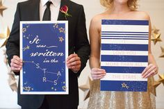 Wedding Stationery Inspiration: Constellations via Oh So Beautiful Paper: http://ohsobeautifulpaper.com/2014/02/wedding-stationery-inspiration-constellations/ | Sign: Yuling Designs via Ruffled | Photo: Love, The Nelsons #wedding