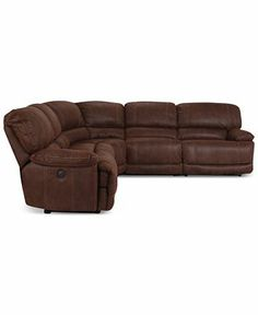 Jedd 5 Pc Fabric Sectional Sofa With 3 Power Recliners