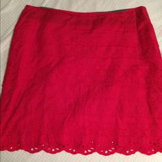 Super cute pink lacy skirt Size 2, super cute lace/crochet skirt. Excellent condition. Only worn 1-2 times. Doesn't fit any more  Bass Skirts Midi