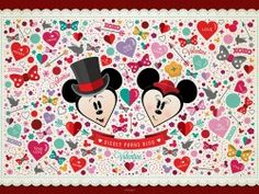 Mickey and Minnie official Disney wallpaper perfect for use in Project Life or Pocket Scrapbooking See more info: http://capturingmagic.me/DisneyProjectLife