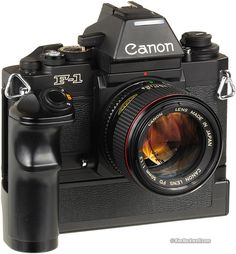 Canon I used to carry two motor driven plus three single of these camera bodies to cover my daily photo assignments Canon Camera Tips, Camera Hacks, Camera Gear, Canon 35mm, Nikon Dslr, Antique Cameras, Old Cameras, Vintage Cameras, Camcorder