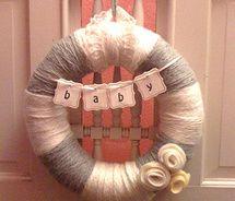 Yarn Wreath for New Baby