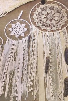 Boho Home Wares at White Bohemian – White Bohemian Store Bohemian Wall Art, White Bohemian, Dreams Catcher, Los Dreamcatchers, Doily Dream Catchers, Diy And Crafts, Arts And Crafts, Craft Projects, Crochet Patterns