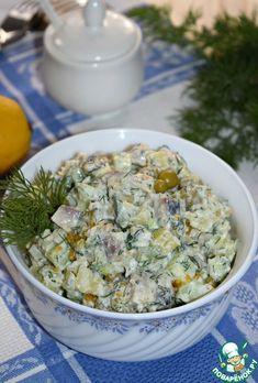 """Картофельный салат с сельдью """"Простой"""" - кулинарный рецепт Potato Salad, Salads, Grains, Rice, Potatoes, Ethnic Recipes, Food, Reception, Side Dishes"""