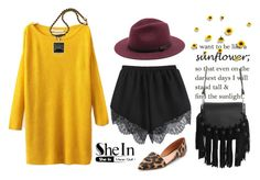 """Sunflower"" by s0f1a ❤ liked on Polyvore featuring Madewell, Alexander McQueen and Sole Society"