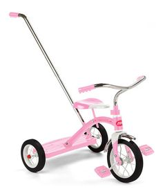 Take a look at this Radio Flyer Pink Classic Push Handle Tricycle by Santa's Workshop: Toys & Games on #zulily today!