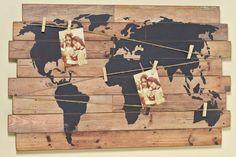 Ebayde Itm Holzbild Wandbild Bild Weltkarte Holz Vintage