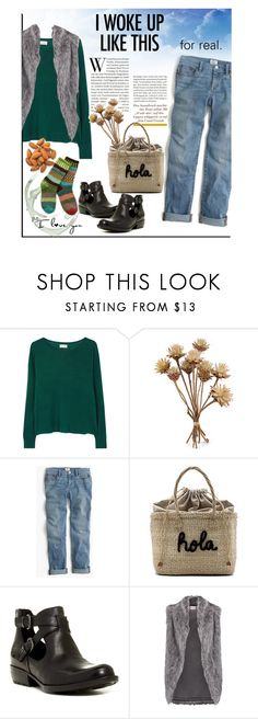 """""""for real. jeans. life."""" by princessbollywood ❤ liked on Polyvore featuring American Vintage, J.Crew, Kayu, Børn, DKNY, Sol Mate Socks and boyfriendjeans"""