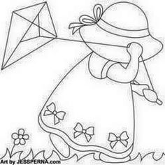 Discover thousands of images about Sunbonnet Sue Flying Kite Nusery Quilt Block Quilt Patterns Free, Applique Patterns, Applique Quilts, Embroidery Applique, Machine Embroidery, Doily Patterns, Paper Embroidery, Embroidery Ideas, Dress Patterns