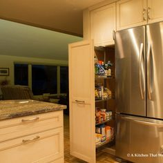 Tall pantry storage cabinet pull out dura supreme kitchen