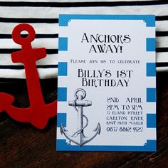 Anchor invitation. wing and keel.