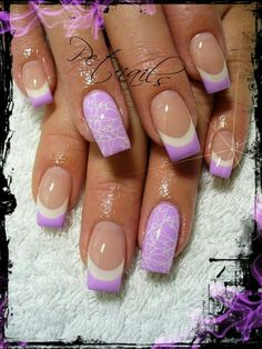 In seek out some nail designs and some ideas for your nails? Here's our listing of must-try coffin acrylic nails for modern women. French Nail Designs, White Nail Designs, Nail Art Designs, Pedicure Designs, Get Nails, Fancy Nails, Trendy Nails, Purple Nails, White Nails