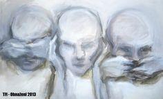 Tři - Obnaženi 2013 - ...A co dál - Jana Nuslauerová: Už pár týdnů mnou rezonuje Bezčasí | Lohas magazín Dali, Painting, Painting Art, Paintings, Painted Canvas, Drawings