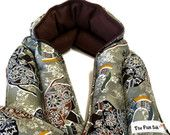 Microwave Flax HEATING PAD Set -NECK wrap and Lumbar pack- elephants - Mandala- Yoga- neck therapy- Heat/cold pad- long, New mommy spa gift