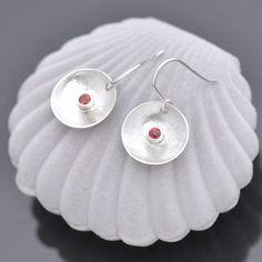Sapphire Jewelry, Sapphire Earrings, Gemstone Earrings, Sterling Silver Earrings, Orange Sapphire, Amethyst Bracelet, Affordable Jewelry, Handmade Jewellery, Round Earrings