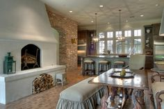 French influenced dining area. http://tracydesignstudio.com/french-acadian/