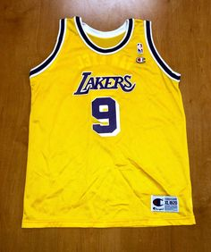 3a05f29e351 Vintage 1995 - 1998 Nick Van Exel Los Angeles Lakers Champion Jersey Size  Youth Extra-Large shaquille o'neal magic johnson nba finals kids