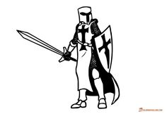 Hand drawn knight with sword and shield coloring page Knight, Drawings, Image, Art, How To Draw Hands, Book Art, Coloring Pages, Color, Doodle Drawings