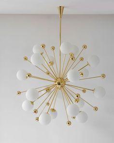 Sputnik chandelier: Let's fall in love with the best mid-century lighting design Mid Century Modern Lamps, Mid Century Lamp, Lamp Design, Modern Chandelier, Ceiling Lamp, Dining Room Lighting, Lighting Trends, Chandelier, Modern Lamp