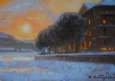 """Winter Sunset"" 5x7 Elena Katsyura"