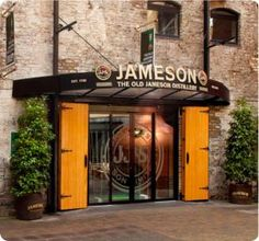 Entrance to the Old Jameson Distillery, Dublin.