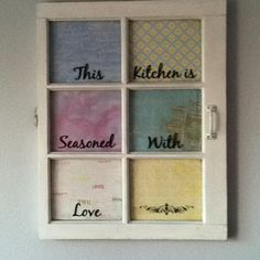 Made this with an old wooden window!