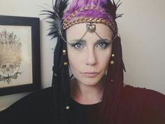 Festival headpiece. Burning Man, Tribal, Feathers.