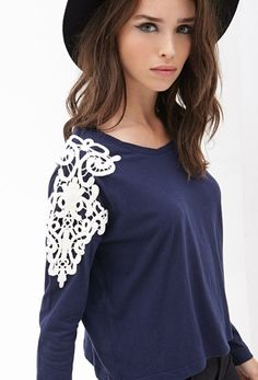 Crochet Embroidered Top from FOREVER 21 on Catalog Spree