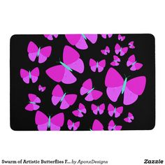 Shop Swarm of Artistic Butterflies Floor Mat created by AponxDesigns. Ipad 1, Ipad Case, Kindle Case, Butterfly Gifts, Floor Mats, Ipod Touch, Personalized Gifts, Butterflies, Create Your Own