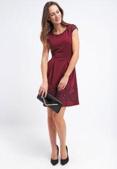Anna Field - Sukienka z dżerseju - burgundy