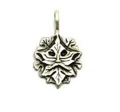 Sterling Silver Father Autumn Aging Leaf Charm